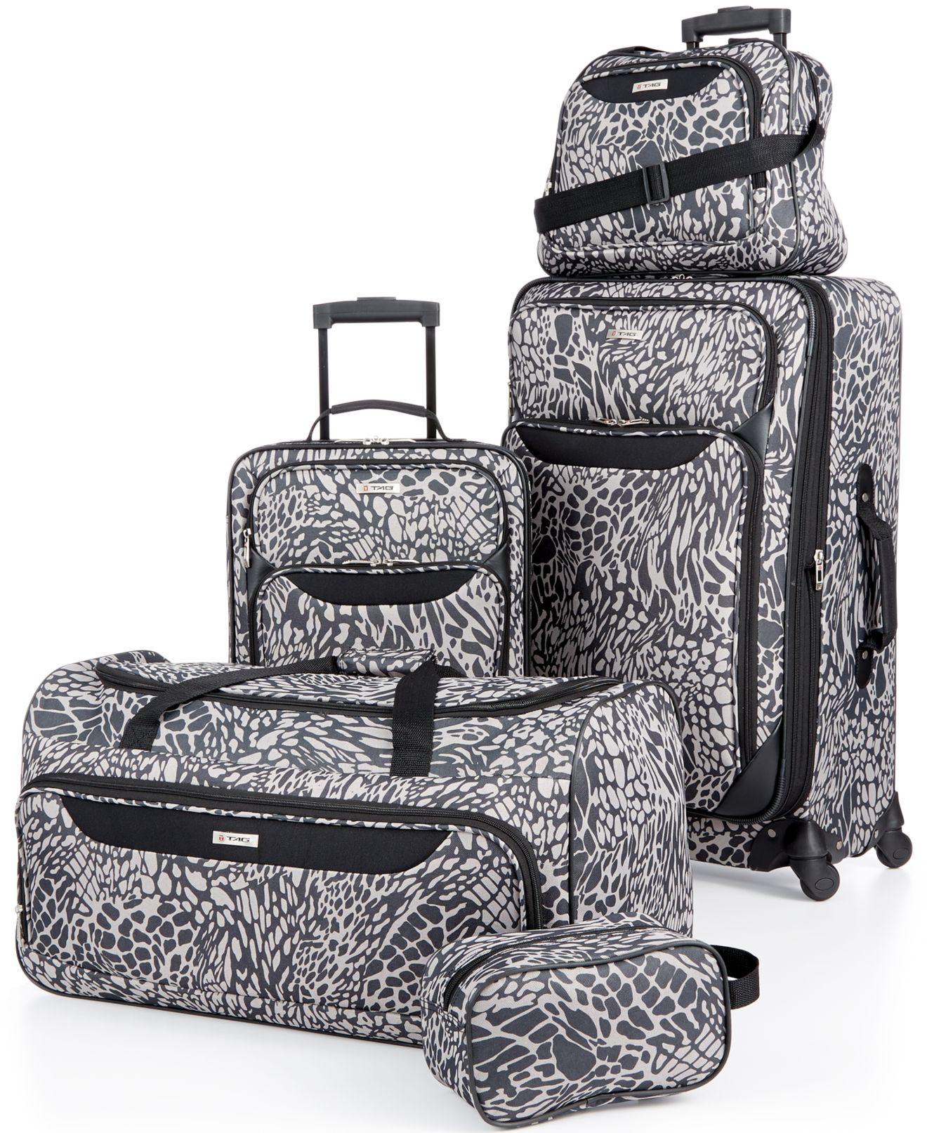 Hawaiian Luggage Sets Print 5 Piece Luggage Set