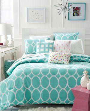 Closeout! Martha Stewart Whim Collection Mirror Mirror 4-Pc. Twin/Twin Xl Comforter Set Bedding