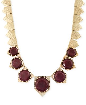Lucky brand gold tone red collar necklace jewelry for Macy s lucky brand jewelry