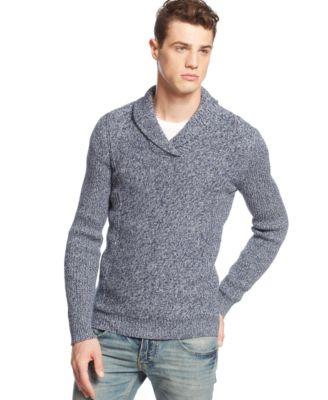 American Rag Marled ShawlCollar Sweater