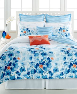 CLOSEOUT! Water Garden 8 Piece Queen Comforter Set