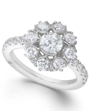 Star by Marchesa Certified Diamond Engagement Ring in 18k White Gold (1-5/8 ct. t.w.)