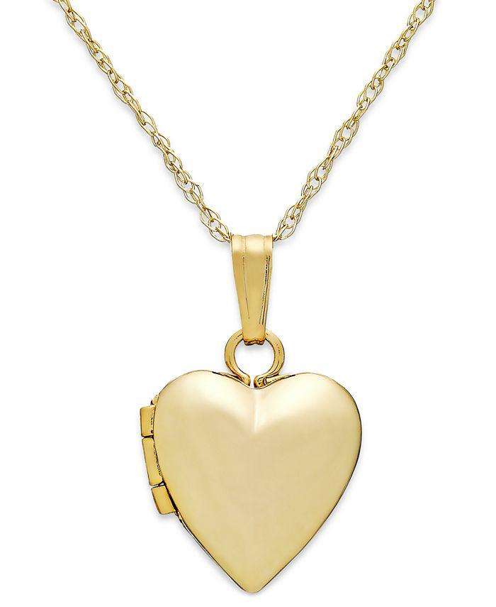 Macy's - Children's Heart Locket Necklace in 14k Gold