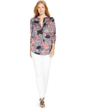 Lauren Ralph Lauren Plus Size Paisley-Print Tunic
