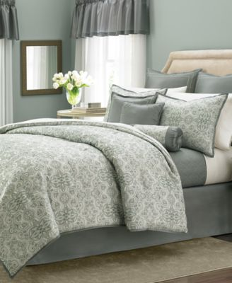 CLOSEOUT! Martha Stewart Collection Regal Filigree 22-Pc. Queen Comforter Set