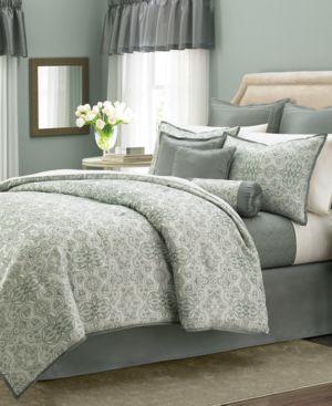 Closeout! Martha Stewart Collection Regal Filigree 22-Pc. Queen Comforter Set Bedding