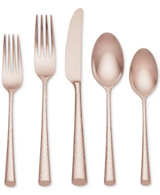 Marchesa by Lenox Imperial Caviar Rose Gold 5-Pc. Place Setting