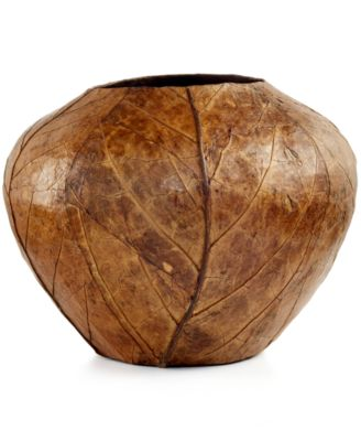 Heart of Haiti Round Tobacco Leaf Vase