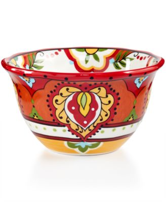 Espana Bocca Red Scalloped Cereal Bowl
