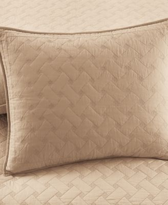 Martha Stewart Collection Basket Stitch Standard Sham (Tan)