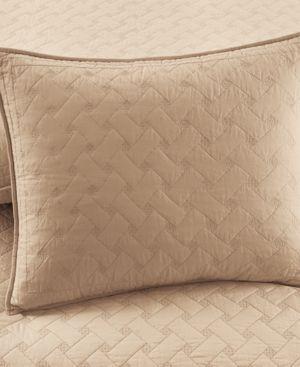 Martha Stewart Collection Basket Stitch Standard Sham (Tan) Bedding