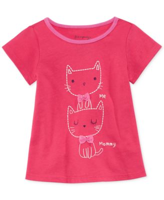 First Impressions Baby Girls' Mommy & Kitty Tee
