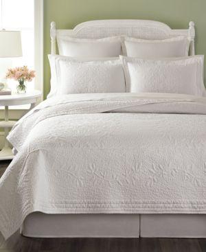 Martha Stewart Collection Flower Crown Twin Collector's Quilt Bedding