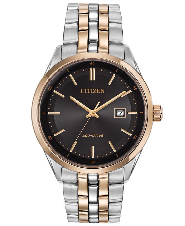 Citizen - Men's Eco-Drive Two-Tone Stainless Steel Bracelet Watch 41mm BM7256-S0E