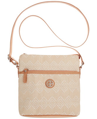 Giani Bernini Patterned Straw Crossbody