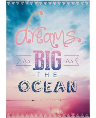 Graham and Brown Dreams As Big As the Ocean Wall Art