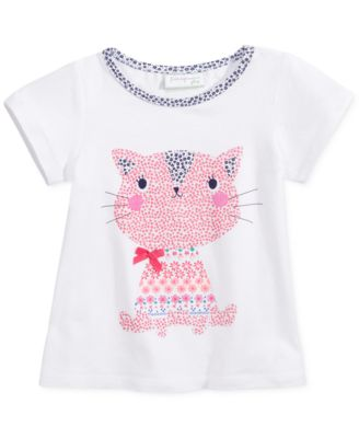 First Impressions Baby Girls' Ditzy Kitty Tee