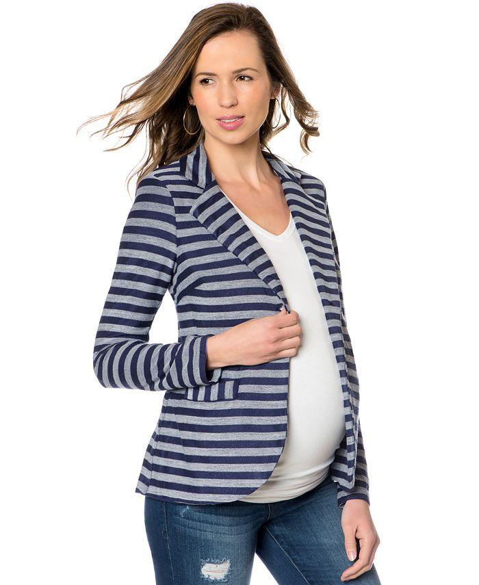 A Pea in the Pod - Striped Maternity Blazer