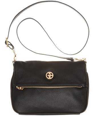 Giani Bernini Pebble Leather Zipper Flap Crossbody