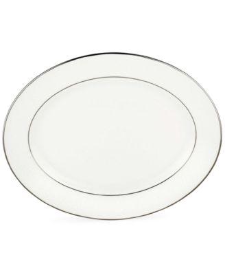 """Lenox Floral Veil 13"""" Oval Platter"""