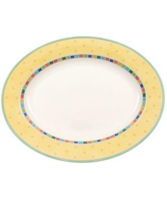 """Villeroy & Boch Dinnerware, Twist Alea Oval Platter, 13 1/4"""""""