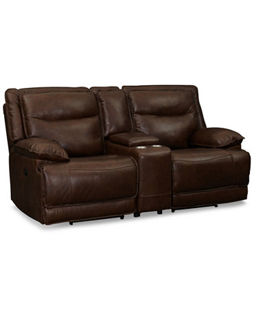 joffrey leather 3 piece sectional sofa with 2 power With joffrey leather 3 piece sectional sofa with 2 power recliners console