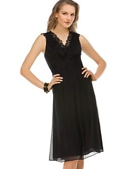 Alfani Lace-Trim Crinkle Dress