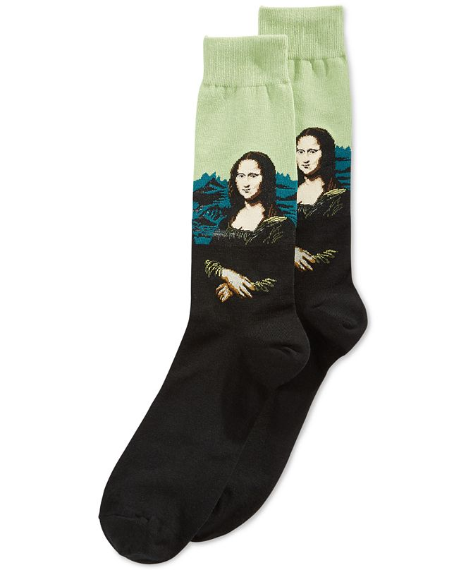 Hot Sox Men's Socks, Mona Lisa Crew