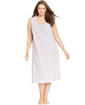 Charter Club Plus Size Sleeveless Long Gown