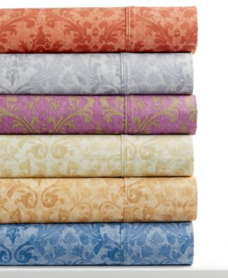 CLOSEOUT! Glenmore 320 Thread Count Printed 6-Pc Queen Sheet Set