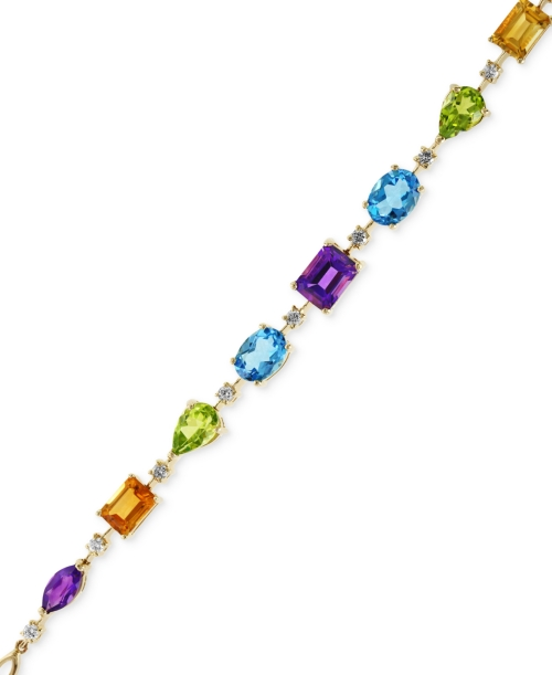 Mosaic by Effy Diamond (1/3 c.t. t.w.) and Multicolor Tennis Bracelet in 14k Gold