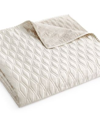 Hotel Collection Woven Texture Full/Queen Coverlet