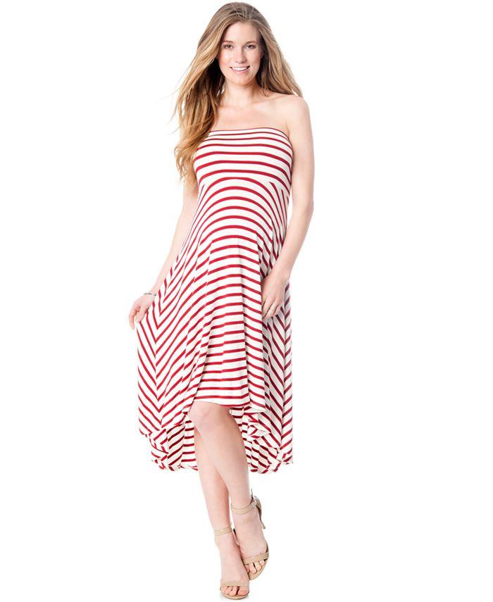 Motherhood Maternity - Maternity Strapless Striped Dress