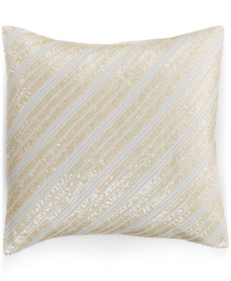 "INC International Concepts Delphine Diagonal Sequin 18"" x 18"" Decorative Pillow"