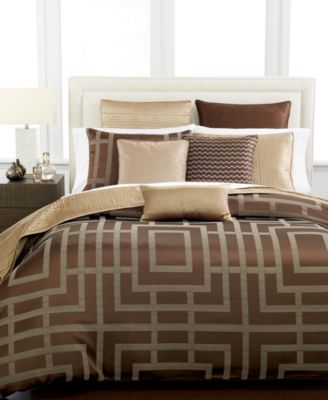 Hotel Collection Savoy Espresso Full/Queen Duvet Cover
