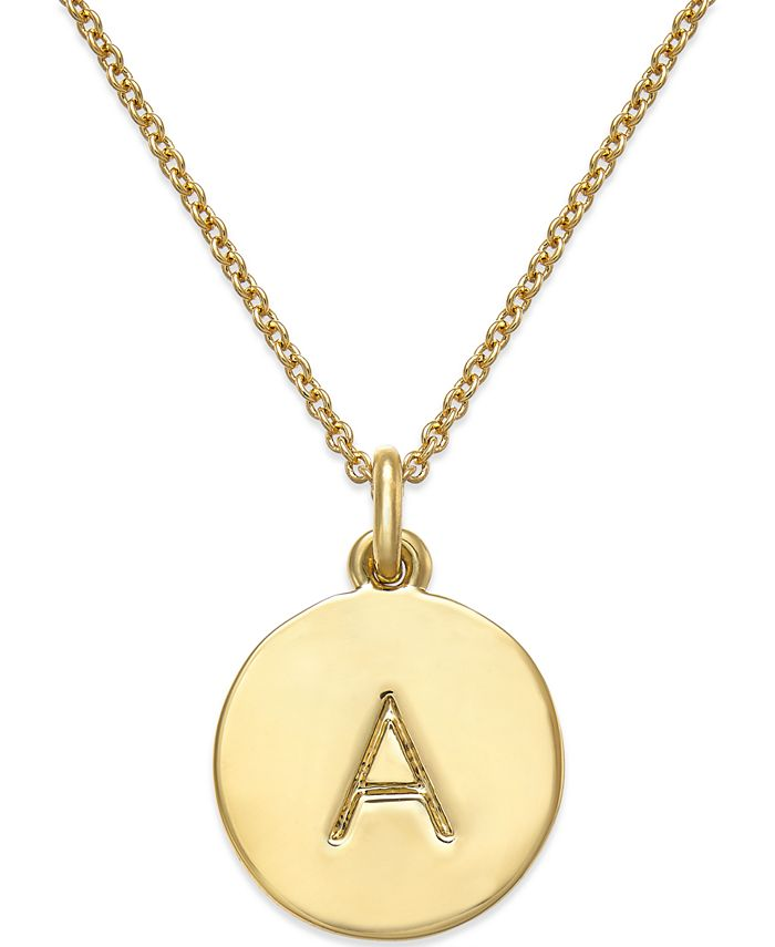 kate spade new york - 12k Gold-Plated Initials Pendant Necklace