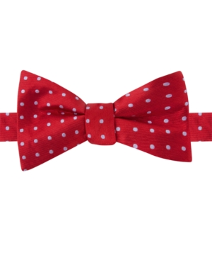 Tommy Hilfiger Twill Dot Pre-Tied Bow Tie $19.99 AT vintagedancer.com