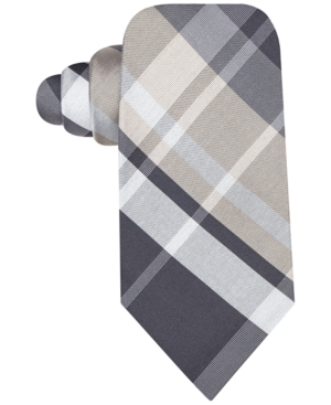 Ryan Seacrest Distinction Backlot Plaid Slim Tie $35.70 AT vintagedancer.com
