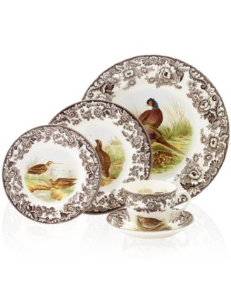Woodland by Spode 5-Piece Place Setting with Pheasant Dinner Plate