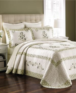 Martha Stewart Collection Abbey Garden Queen Bedspread (Only at Macy's) Bedding