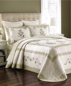 Martha Stewart Collection Abbey Garden Queen Bedspread (Only at Macy's) Bedding