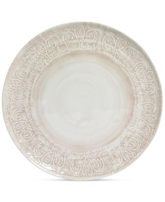 Maison Versailles Castleware Melamine Round Taupe Dinner Plate