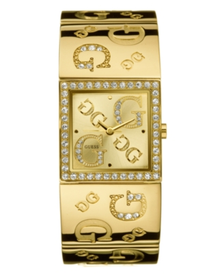 GUESS Watch, Women's Goldtone Logo Bracelet G96049L