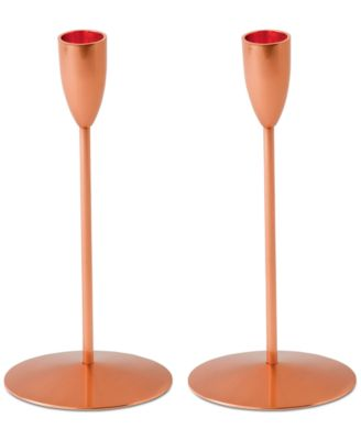 Wedgwood Arris Collection Copper Candlesticks, Set of 2