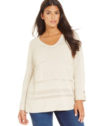 Jones New York Signature Plus Size V-Neck Sweater
