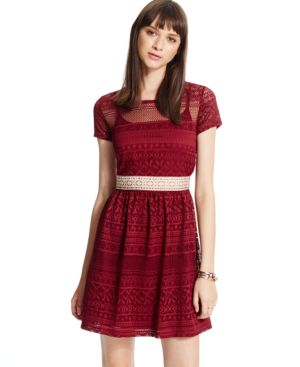 Trixxi Juniors' Crochet Lace Dress