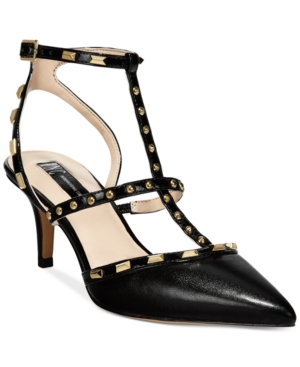 Inc International Concepts Carma Pointed Toe Studded Kitten Heel Pumps, only at Macy's Women's Shoes