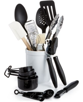 Martha Stewart Collection 20-Pc. Kitchen Utensil Set with Crock