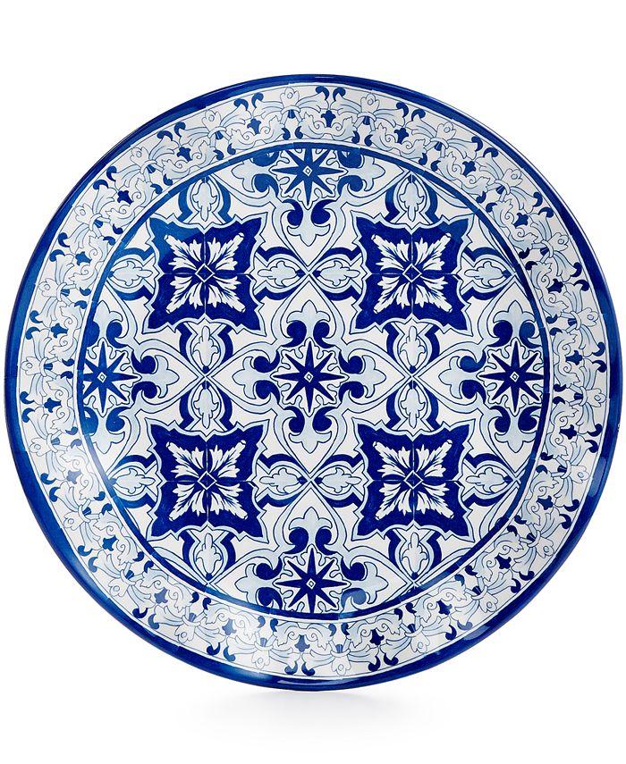 "Q Squared - Talavera Azul Collection 10.5"" Dinner Plate"