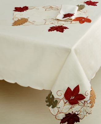 "Homewear Harvest Autumn Bliss Collection Polyester 60"" x 140"" Oblong Tablecloth"